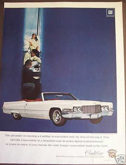 Cadillac Deville White Convertible Classic Car (1969)