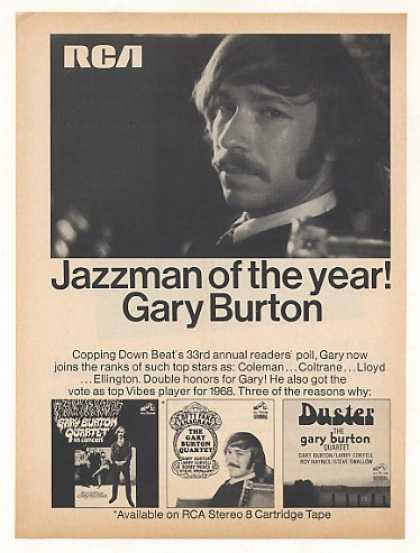 Gary Burton Jazzman of Year RCA Records Photo (1968)