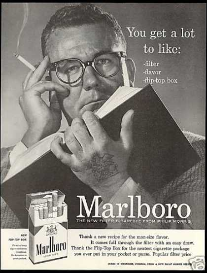 Marlboro Box Cigarettes Tattoo Book (1956)