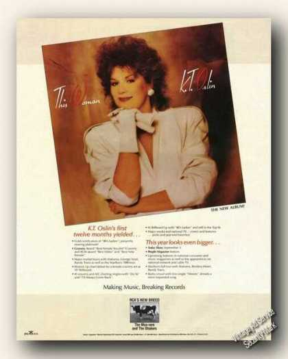 K. T. Oslin Photo Album Promo Advertising Music (1988)