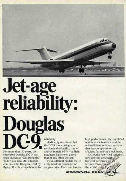 Douglas Dc-9 Taking Off Jet-age Reliability (1968)