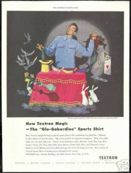 Magic Magician Siebel Art Textron Shirt (1949)