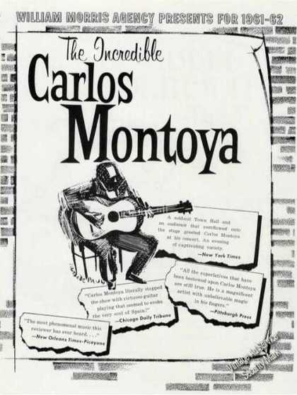 The Incredible Carlos Montoya Trade Ad Guitar (1961)