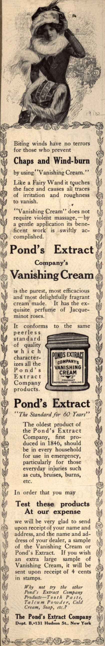 Pond's Extract Co.'s Pond's Vanishing Cream and Extract – Chaps and Windburn (1910)