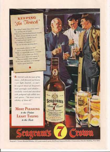 Seagrams Seven Crown Whiskey (1943)