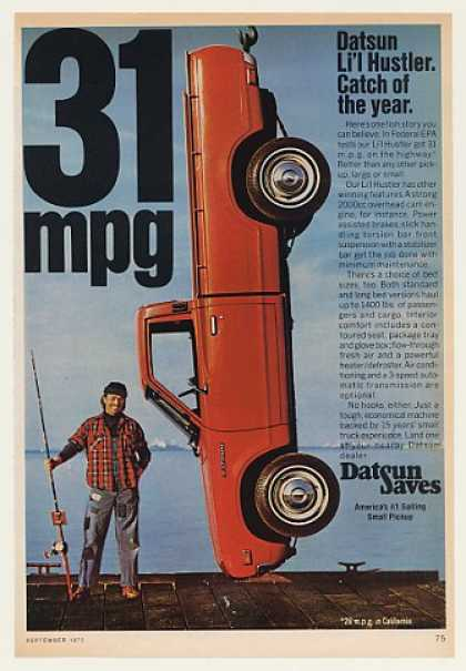 Datsun Li'l Hustler Pickup Truck Catch of Year (1975)