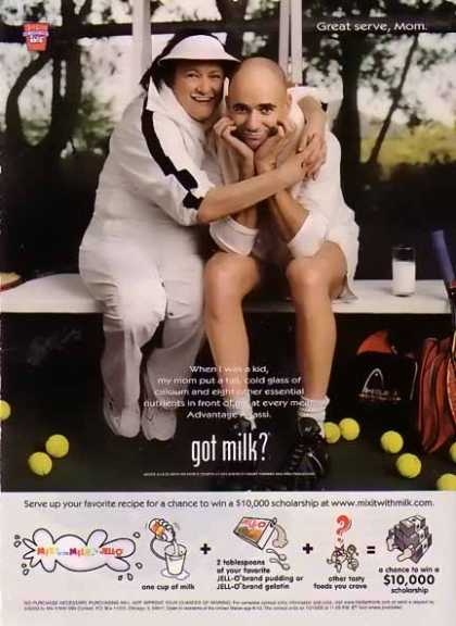 Andre Agassi and Mom &#8211; GOT MILK (2003)