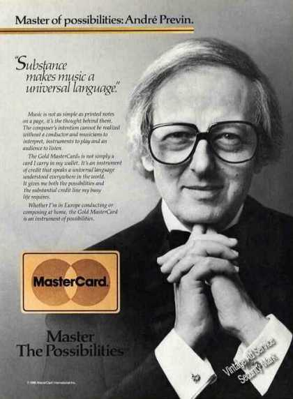 Andre Previn Photo Mastercard (1986)