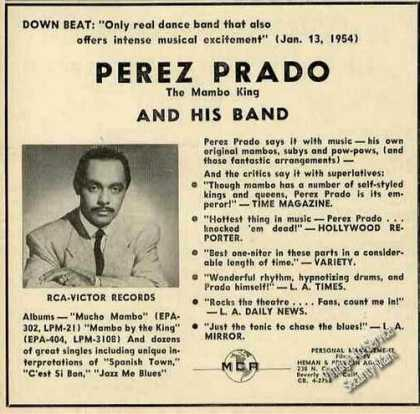 Perez Prado Photo Music Promo Trade (1954)