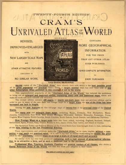 H. C. Hudgins & Co.'s Cram's Unrivaled Atlas of the World – Cram's Unrivaled Atlas of the World (1889)