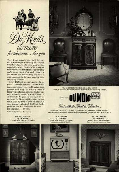 Allen B. DuMont Laboratorie's television – DuMonts do more for television... for you (1951)