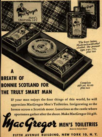 MacGregor – A Breath Of Bonnie Scotland For The Truly Smart Man (1945)
