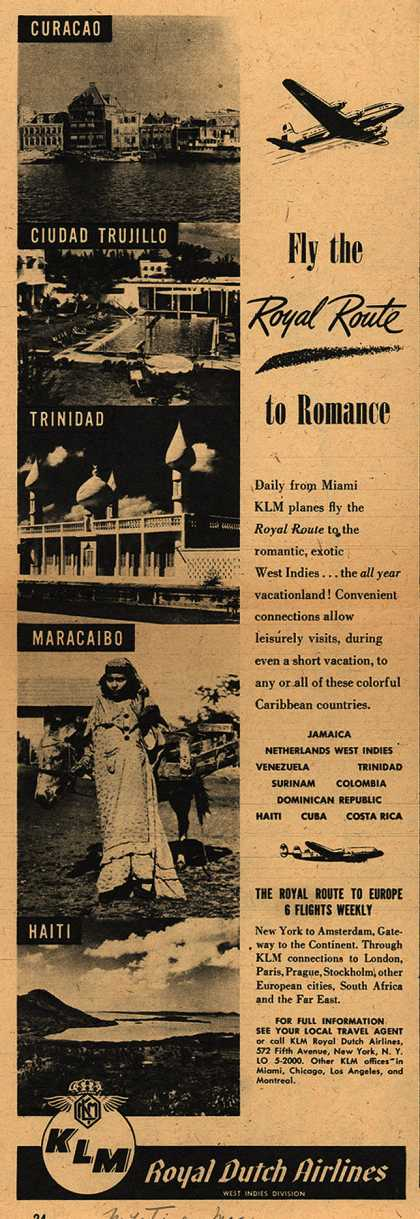 KLM Royal Dutch Airline's Air Travel – Fly the Royal Route to Romance (1947)