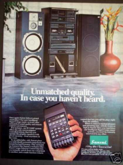Sansui Is-1100p Remote Stereo System (1985)