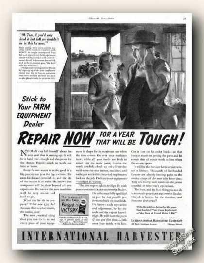 Repair Now International Harvester Wwii Art (1942)