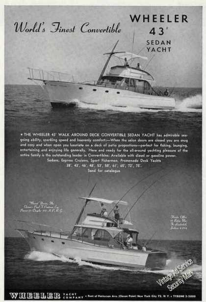 Wheeler 43 Sedan Yacht Photos (1958)