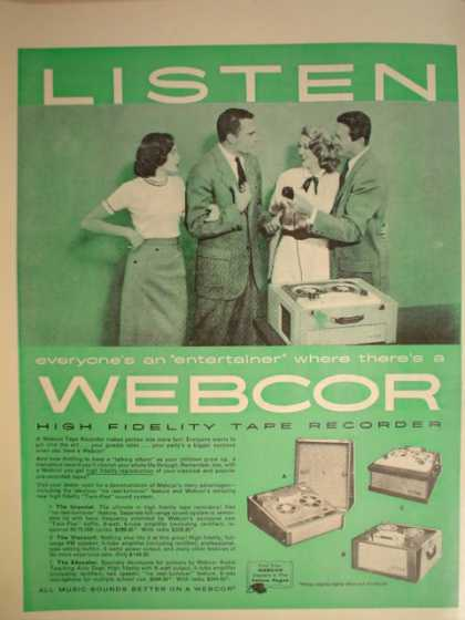 Webcor Reel to Reel recorders (1957)