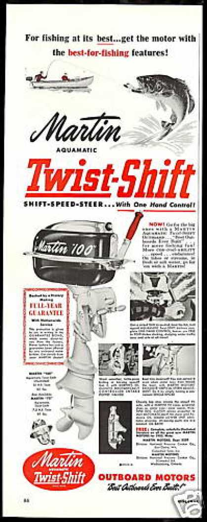 Martin Twist Shift Outboard Boat Motor (1952)