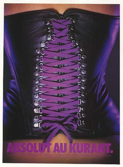 Absolut Au Kurant Vodka Bottle Corset (1999)