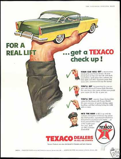 Texaco Dealers Gas Station Checkup Vintage (1956)