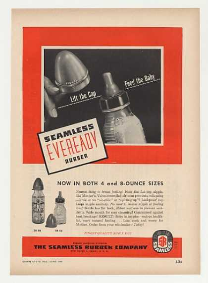 Seamless Rubber Eveready Nurser Bottle Trade (1948)