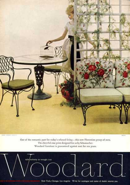 Woodard Wrought Iron Furniture Rose (1960)