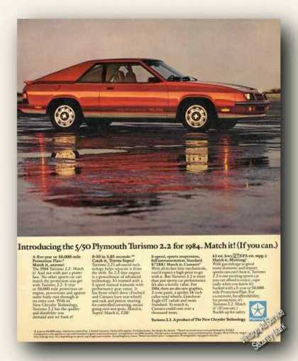 Plymouth Turismo 2/2 Photo Car Promo (1984)