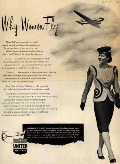 United Air Lines – Why Women Fly (1944)