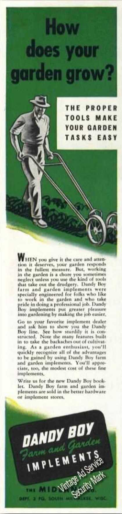 Dandy Boy Farm & Garden Implements (1947)