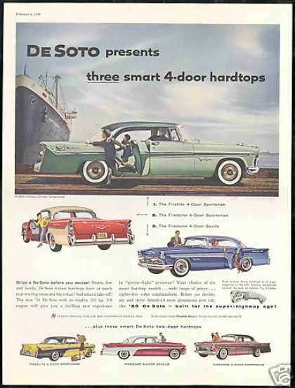 De-Soto 4 & 2 Dr Car Photo Print Vintage DeSoto (1956)