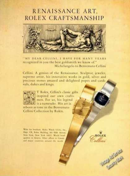 Rolex Benvenuto Cellini Collection (1981)