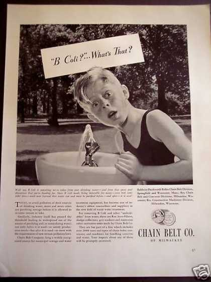 Chain Belt Co Remove B Coli From Water (1941)