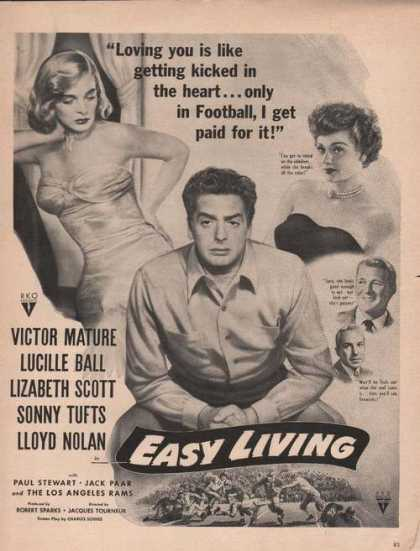 Easy Living Lucille Ball Victor Mature (1949)