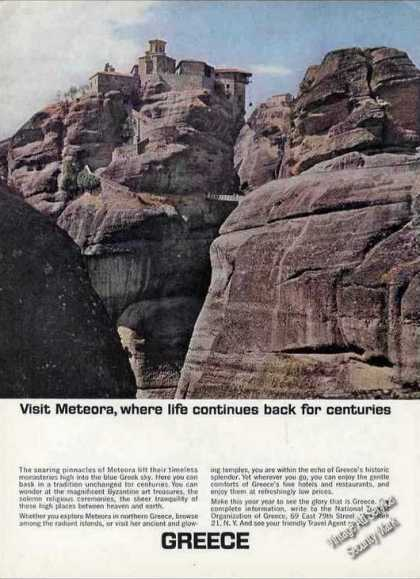 "Meteora Greece Photo ""Life Continues"" Travel (1964)"