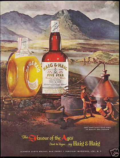 Haig & Haig Scotch Whisky Distillery Art (1951)