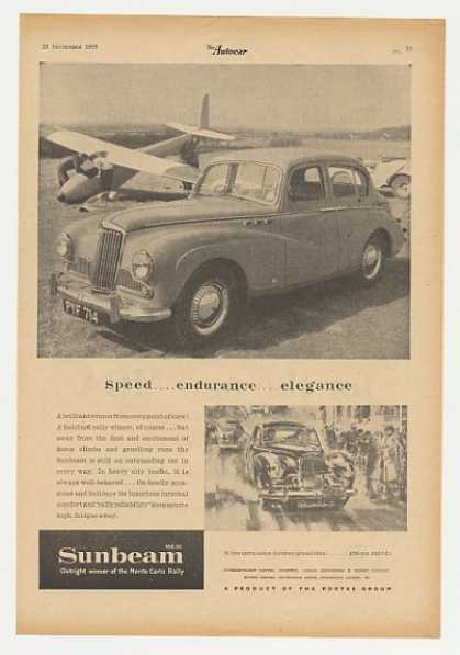 Sunbeam MK III Speed Endurance Elegance British (1955)