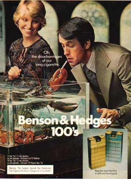 Benson & Hedges Cigarettes – Disadvantages of … – Lobster (1975)