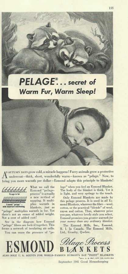 Esmond Pelage Process Bed Blankets (1941)