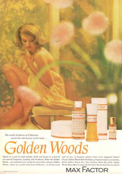 Max Factor Golden Woods Cologne (1963)