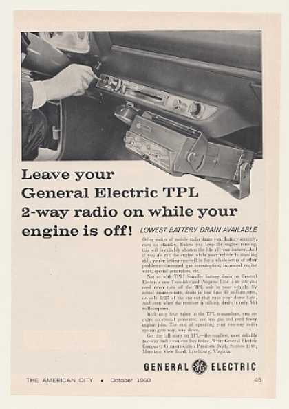 GE General Electric TPL 2-Way Mobile Radio (1960)