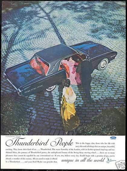 Black Ford Thunderbird Landau Car Vintage Photo (1962)