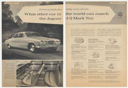 Jaguar 4.2 Mark Ten 2-Page Vintage British (1965)