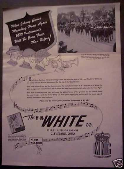 King Musical Instruments H. N. White Co (1943)
