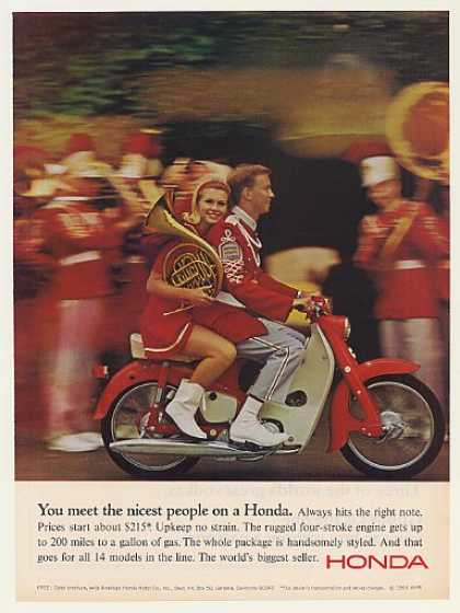 Honda 50 Motorcycle Nicest People Horn Band (1966)