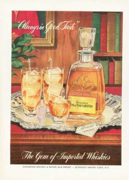 Canadian Macnaughton Whisky Bottle (1955)