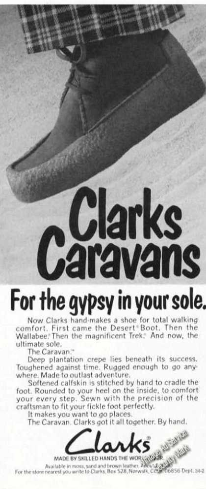 Clarks Caravans Gypsy In Sole Shoe (1974)