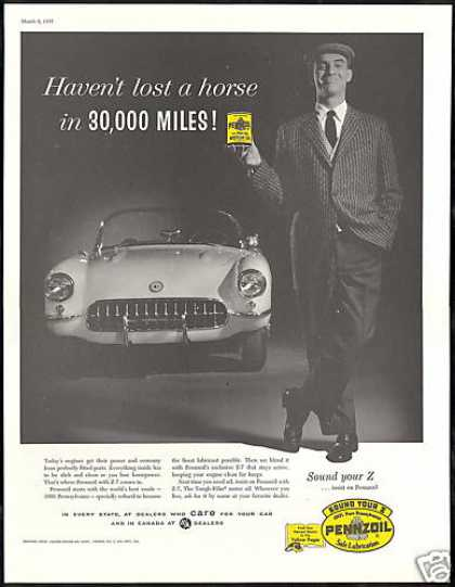 Pennzoil Car Oil Chevrolet Corvette Photo (1957)