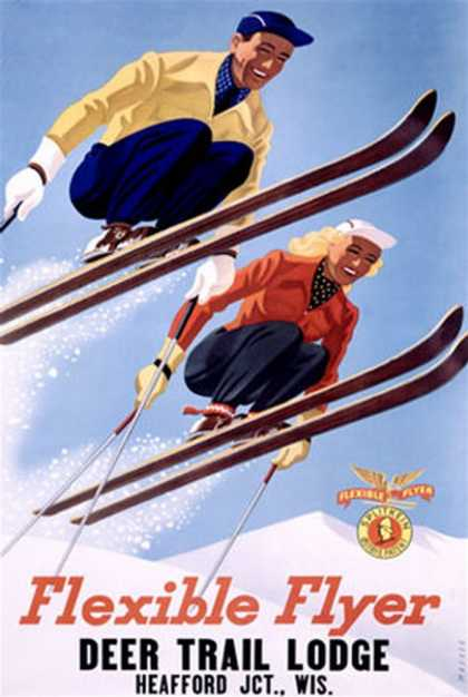 Deer Lodge Flexible Flyer Ski (1954)