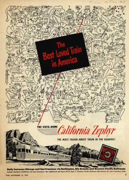 Western Pacific's California Zephyr – The Best Loved Train in America (1951)