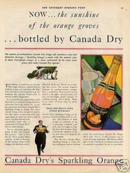 Canada Dry's Sparkling Orange Beverage Color (1931)